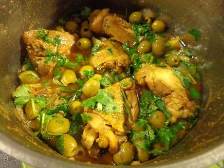 Poulet aux olives vertes et citron