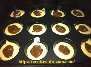 MUFFINS AUX NUTELLA DUCOIN