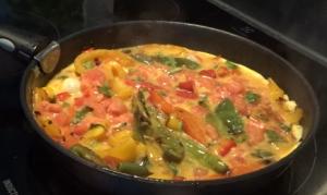 omelette trois poivrons
