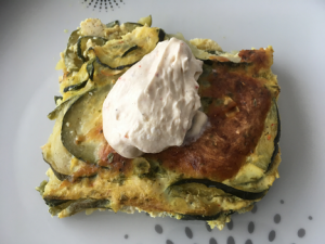 COURGETTE AUX OEUFS DUCOIN