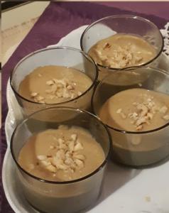 Verrines de velouté de marrons