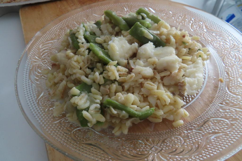 Cabillaud au blé et haricots plat un petit plat très facile à faire
